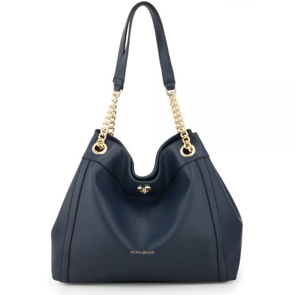 AG00561A - Navy Fashion Hobo Shoulder Bag
