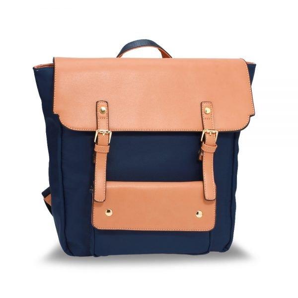 AG00617 - Navy / Nude Backpack Rucksack School Bag