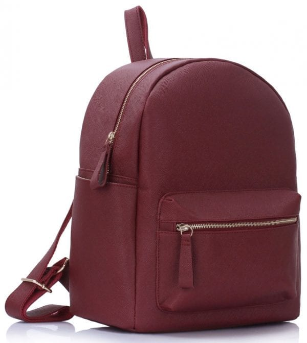 LS00186A  - Burgundy Backpack Rucksack School Bag