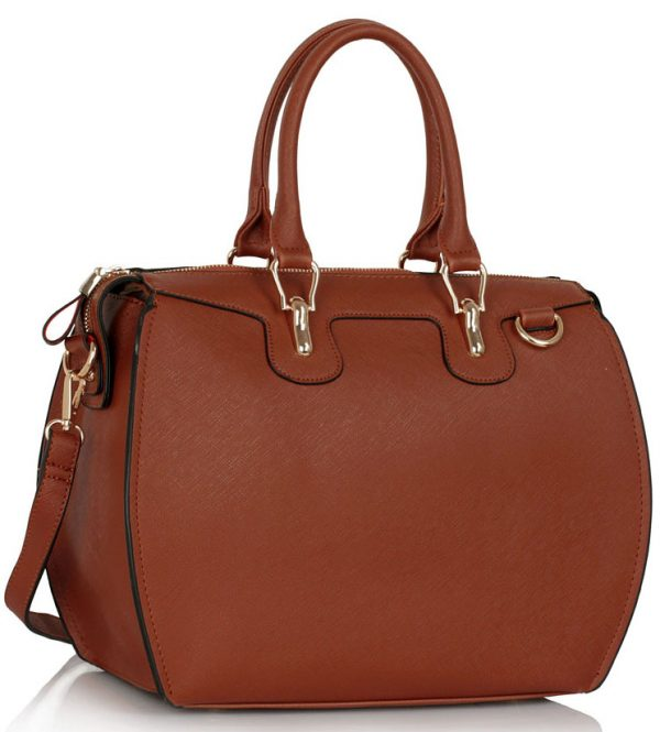 LS0099A  - Brown Grab Shoulder Handbag